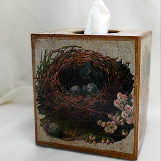 Bird Nest Tissue Box Cover