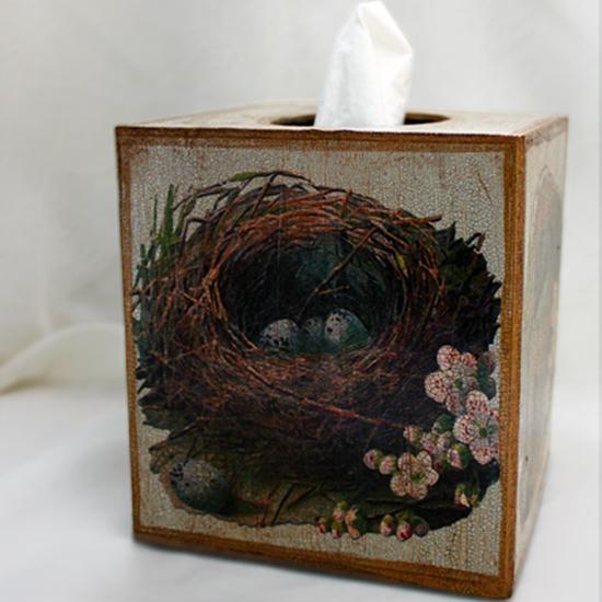 Bird Nest Tissue Box Cover
