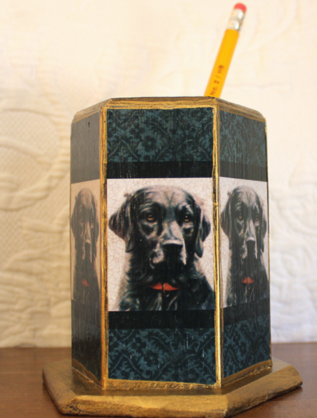 Black Lab Pencil Holder