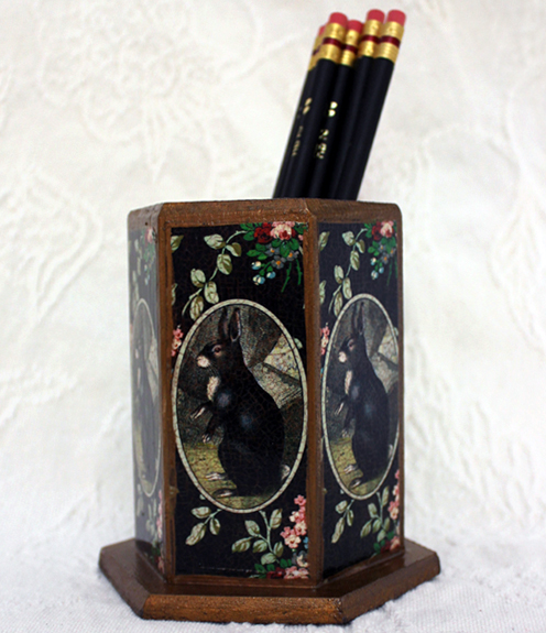 Black Rabbit Pencil Holder