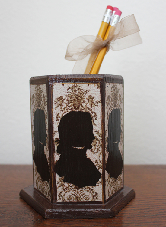 Brown Silhouette Pencil Holder