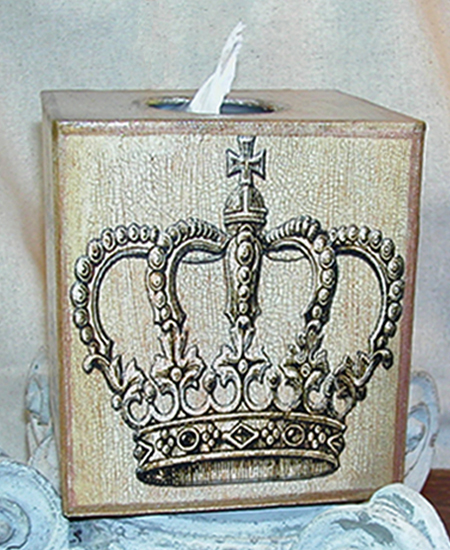 Royal Crown Tissue Box Cover