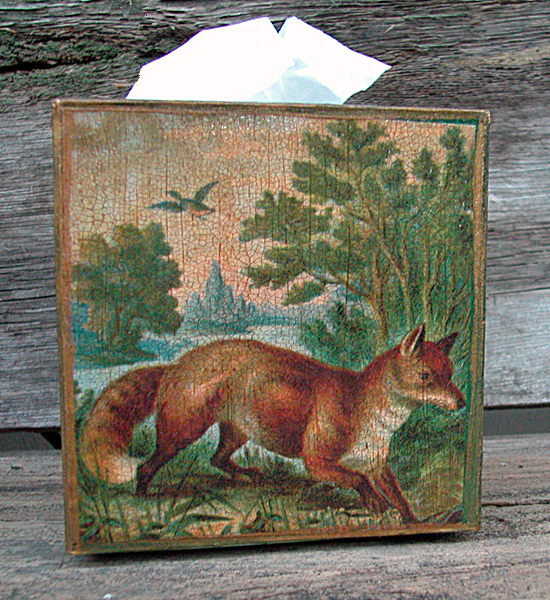 Fox Tissue Box Cover Landscape