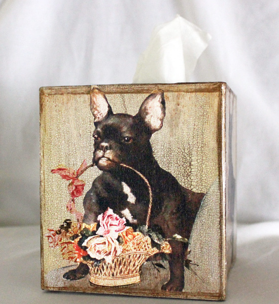 French Bulldog Tissue Box Cover