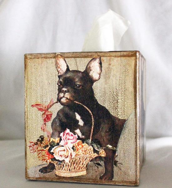 French Bulldog Tissue Box Cover