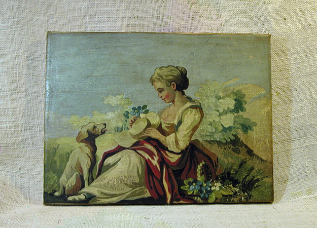 Lady with Dog Canvas