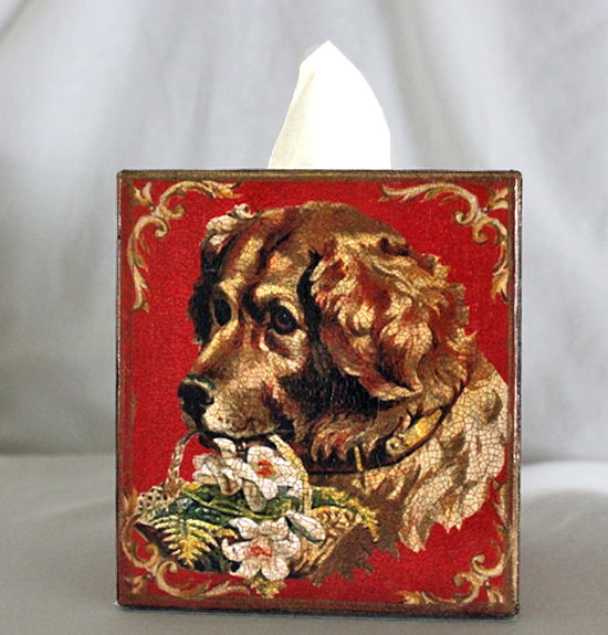 Golden Retriever Tissue Box