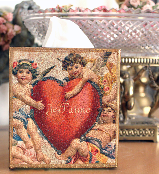Je T'aime Tissue Box Cover