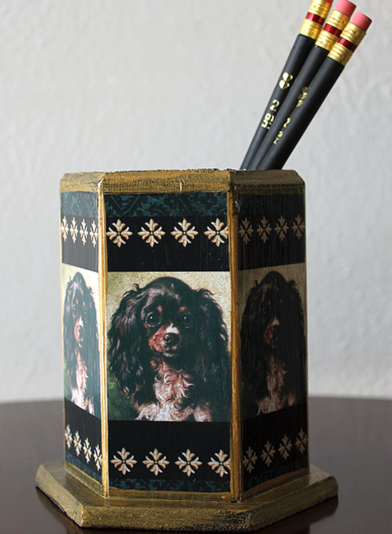 King Charles Spaniel Pencil Holder