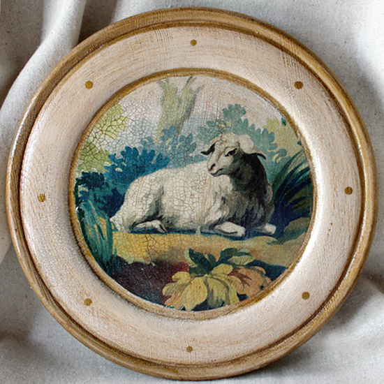 Lamb Plate Tapestry