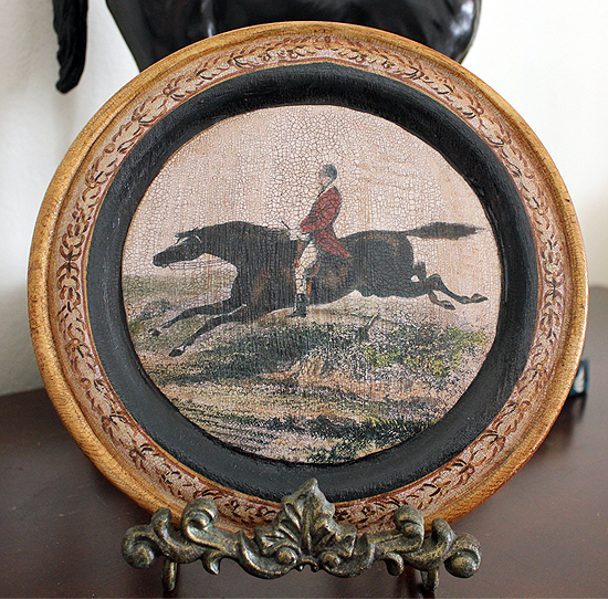 Leaping Horse Plate Red Coat