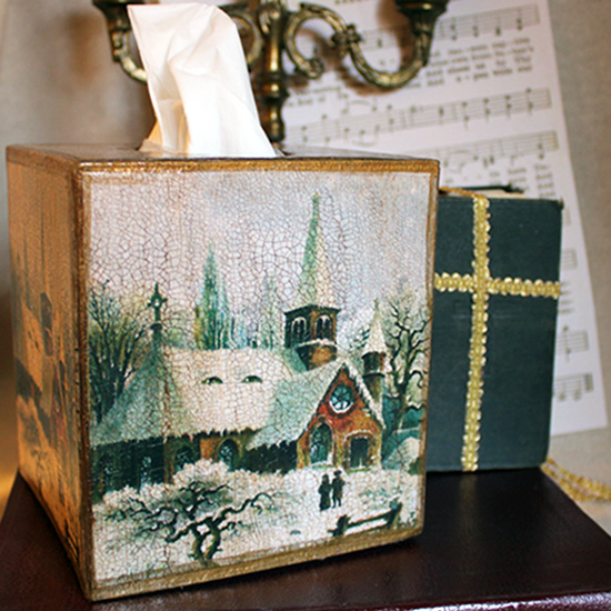 Church Tissue Box Cover