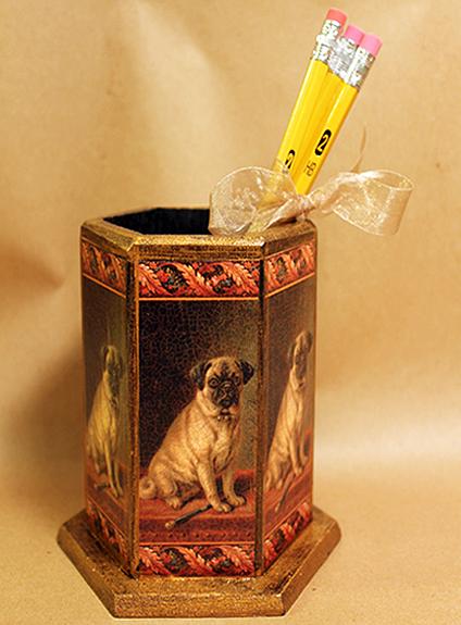 Pug Pencil Holder