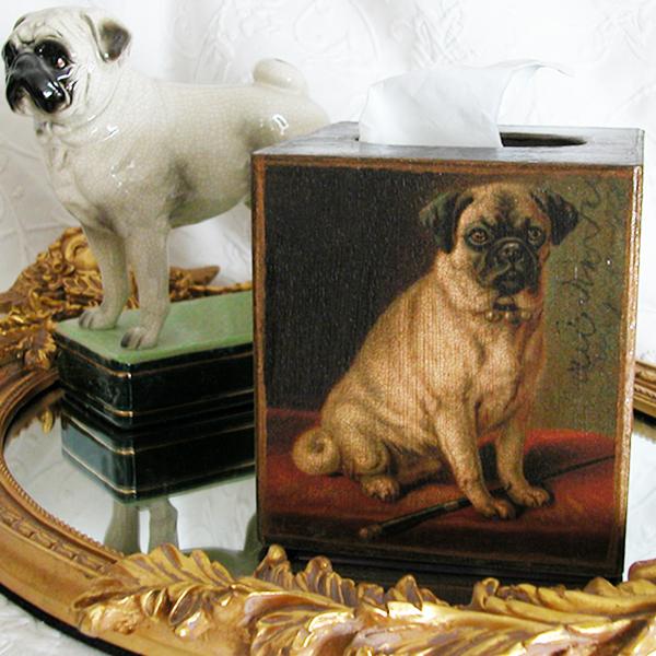 Pug Tissue Box Cover