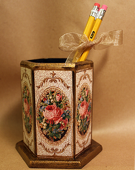Rose Pencil Holder