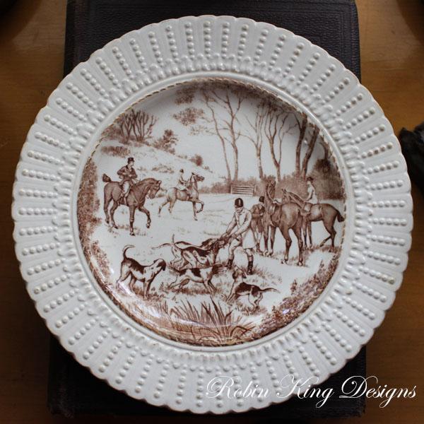 Vintage Equestrian Plate Royal Cauldon