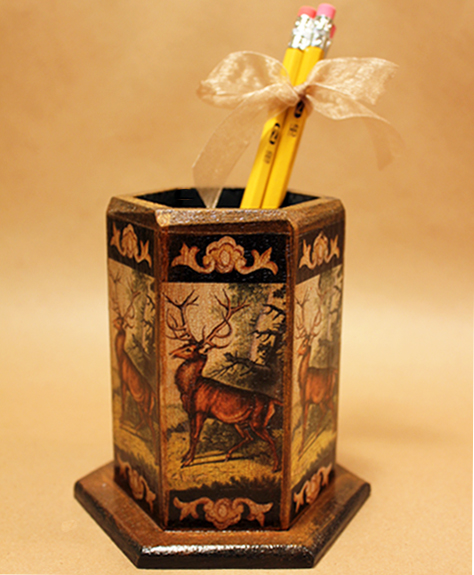 Stag Pencil Holder