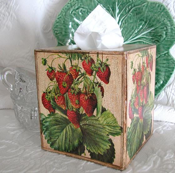 Strawberry Tissue Box Cover