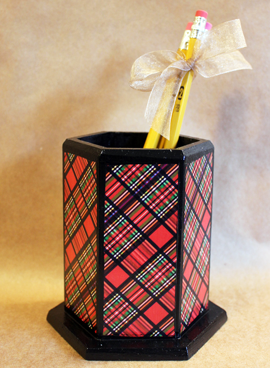 Tartan Pencil Holder