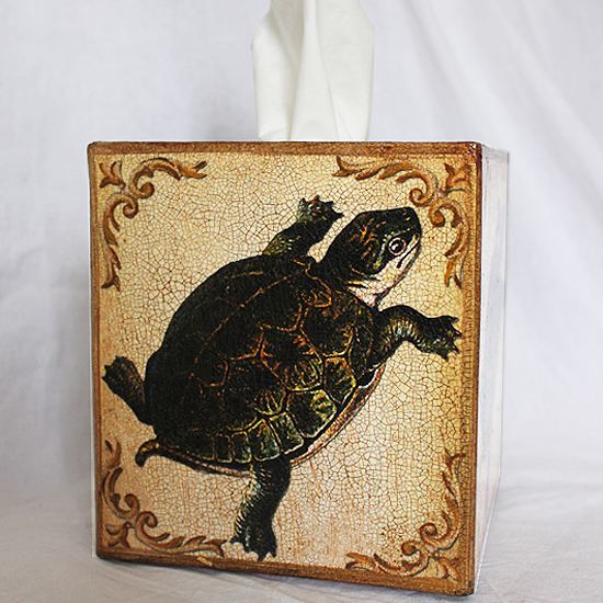 Turtle Tissue Box