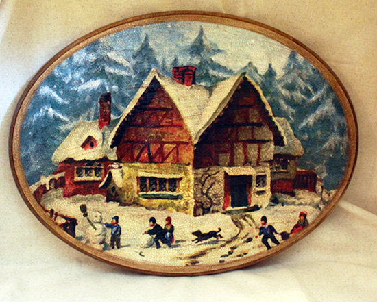 Winter House Oval Plaque