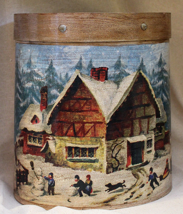 Winter House Wastepaper Basket
