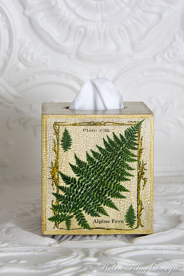 Alpine Fern Tissue Box Cover