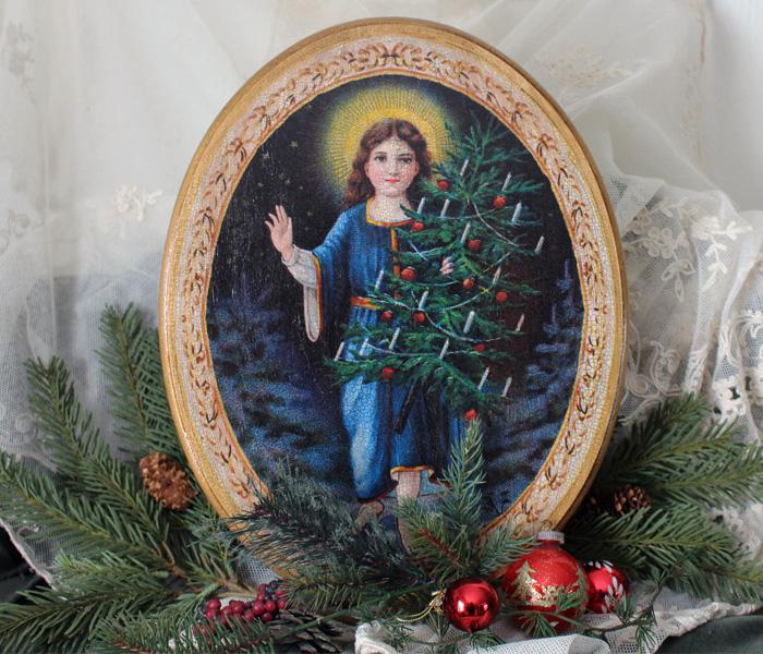 Angel Tree Oval Plaque