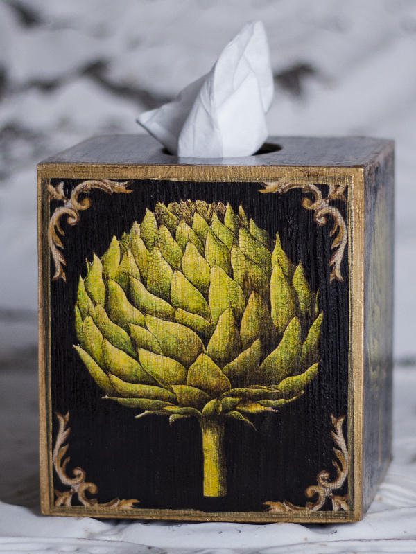 Artichoke Tissue Box Cover