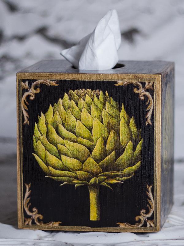 Artichoke Tissue Box Cover
