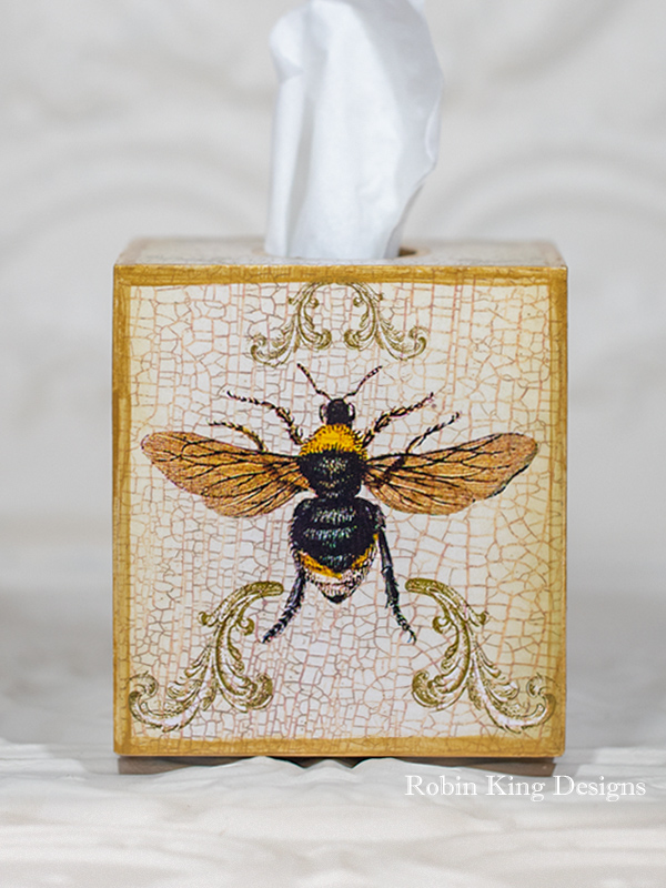 Bee Tissue Box Cover