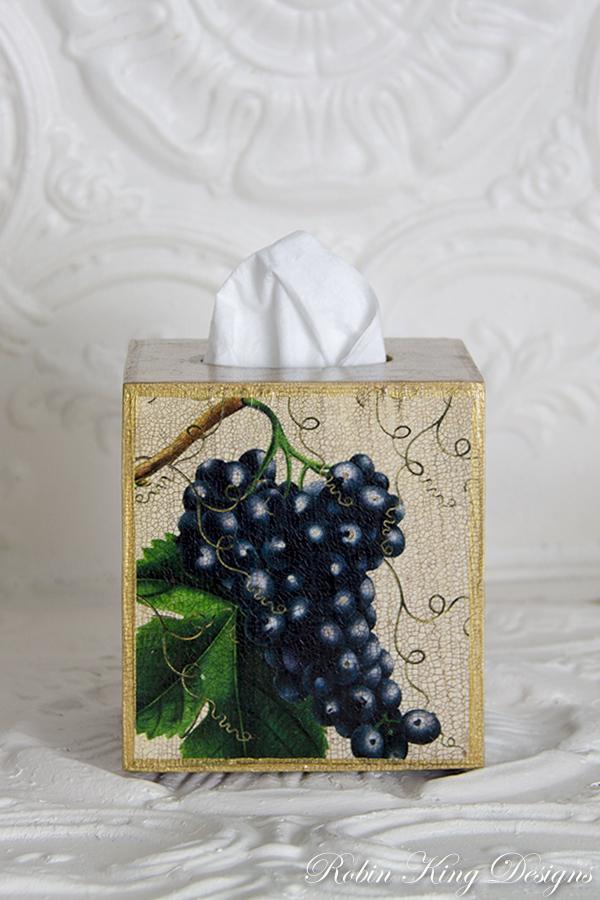 Blue Grape Tissue Box Cover