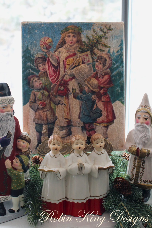 Christmas Children in Snow Canvas