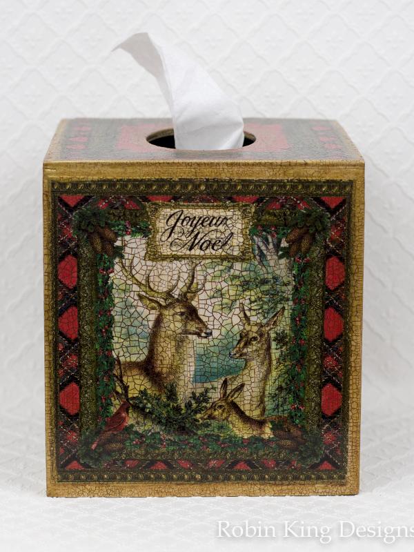 Christmas Deer Family Tissue Box Cover