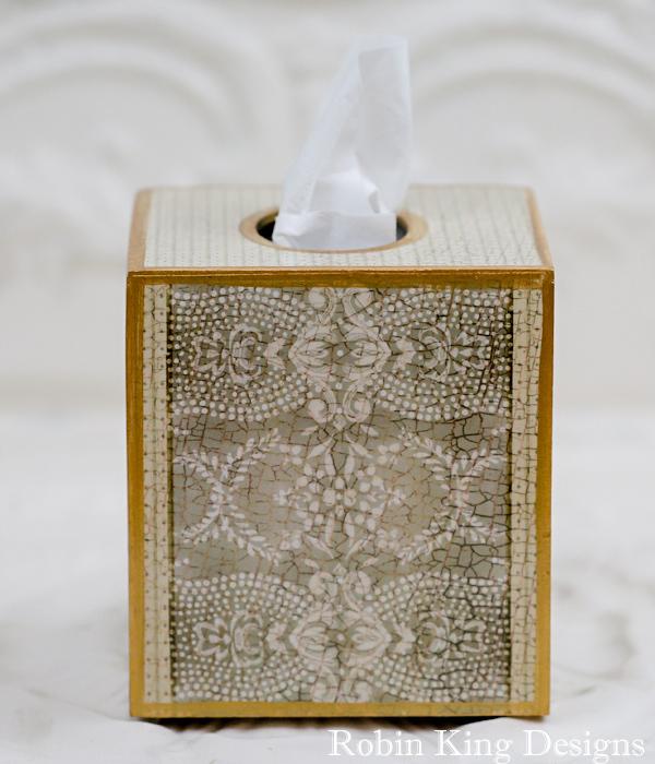 Coco Polka Dots Stripes Pattern Tissue Box Cover