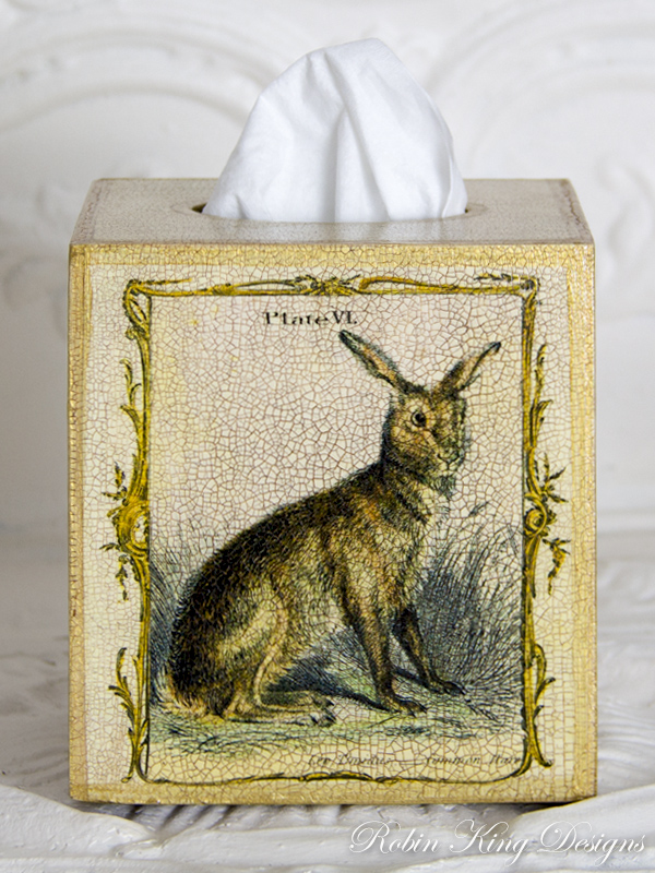 Common Hare Tissue Box Cover