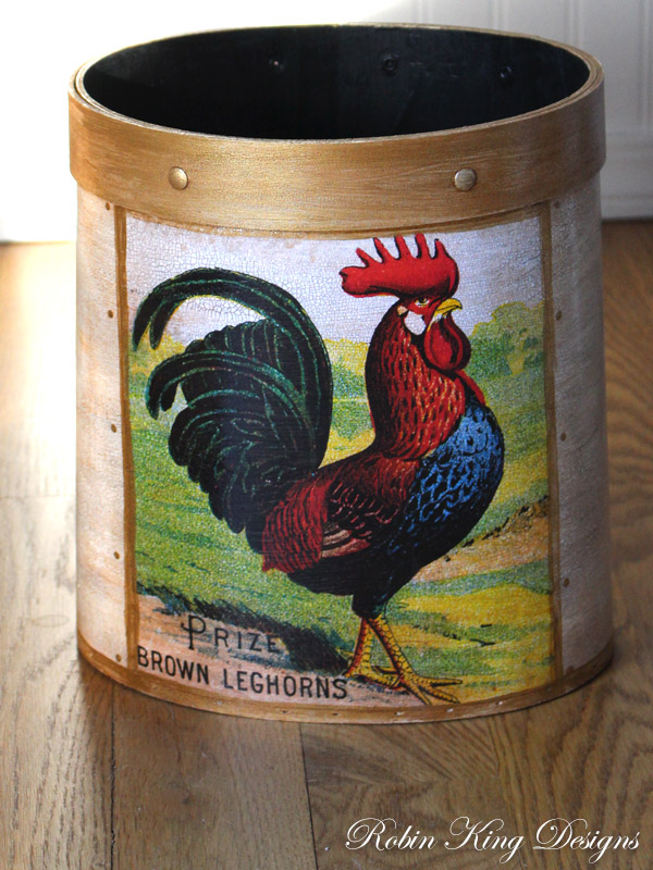 Country Rooster Wastepaper Basket