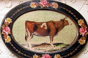 Cow Platter Roses