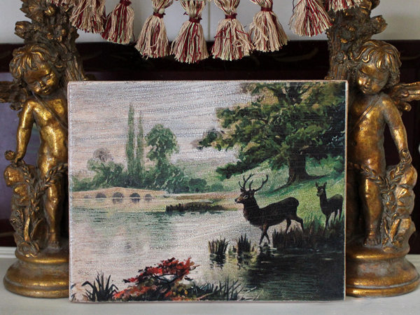 Deer by River Canvas Art