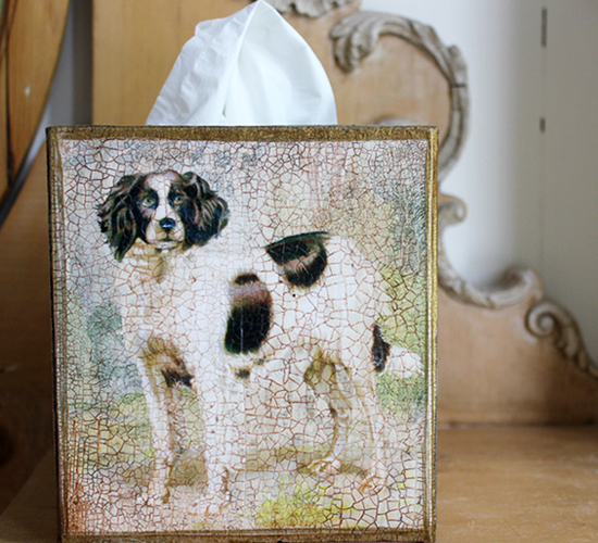English Springer Spaniel Tissue Box Cover