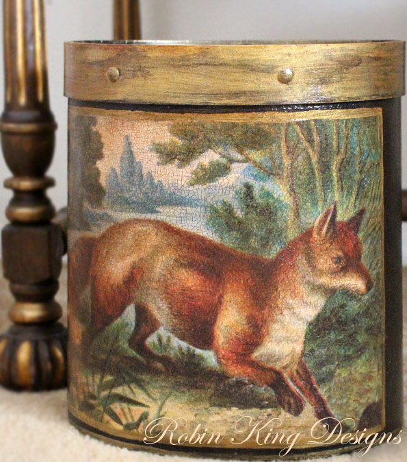 Fox Landscape Wastepaper Basket