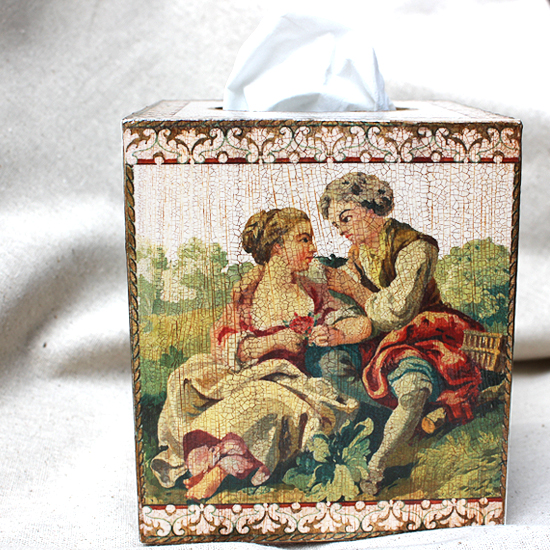 French Lovers Tissue Box Cover