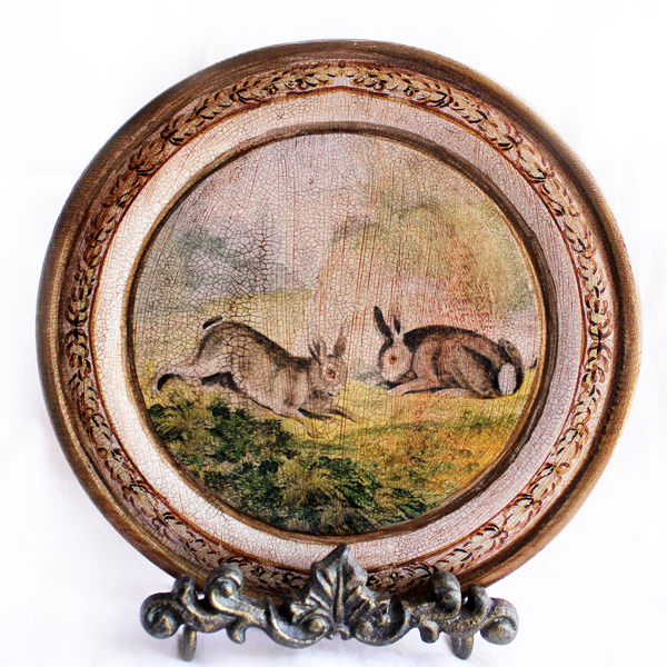 French Rabbits Plate