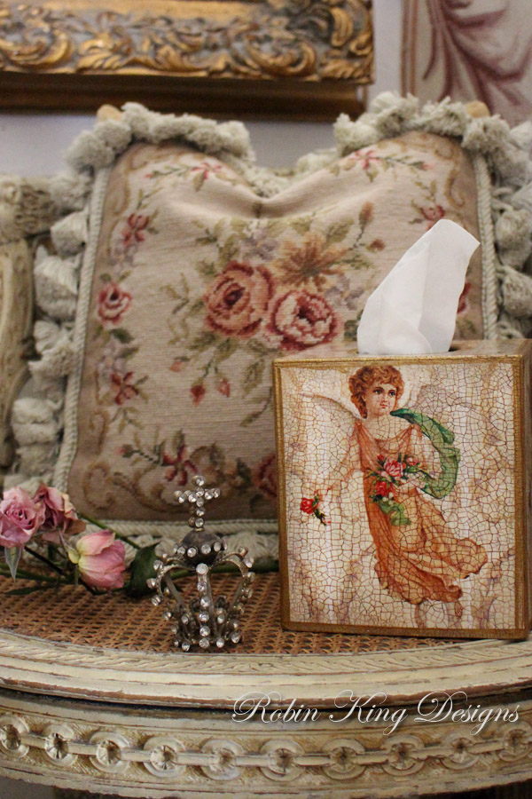French Angel Tissue Box Cover