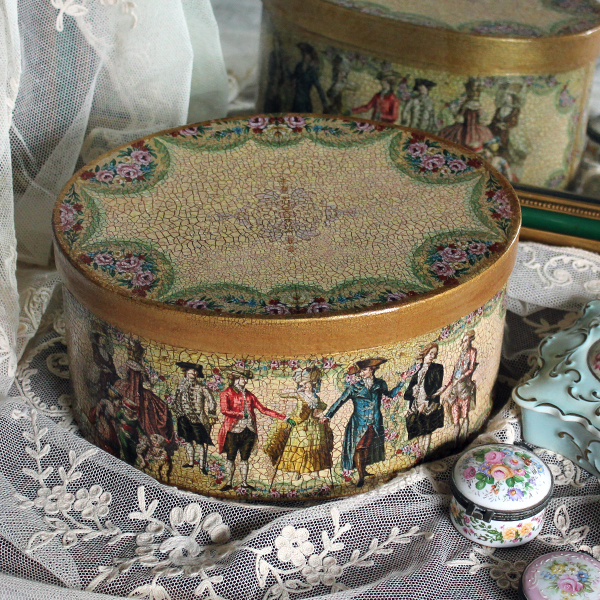 French 18th Century Fashion Hat Box