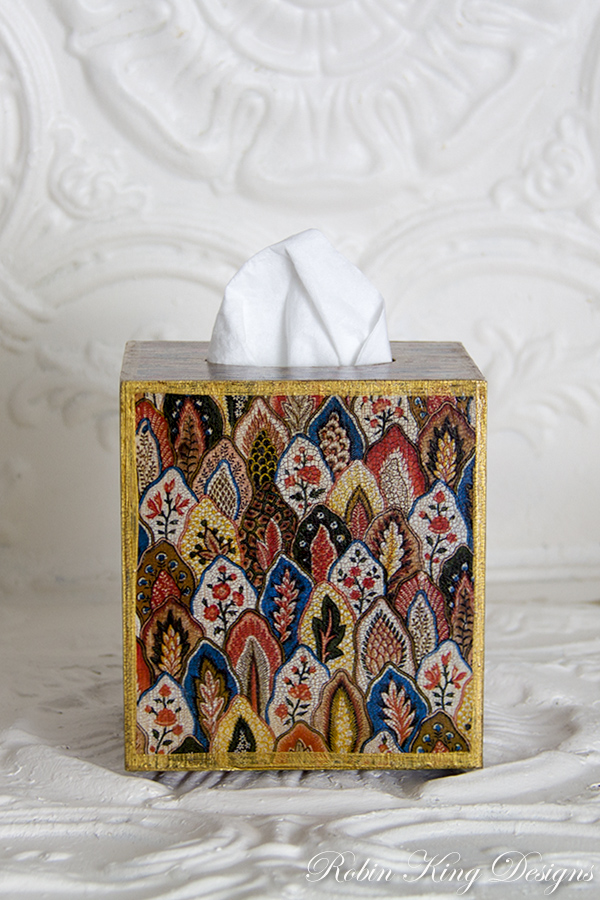 French Pattern Tissue Box Cover