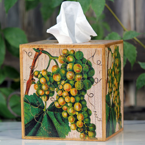 Grape Tissue Box Cover