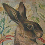 Hare on Floral Canvas