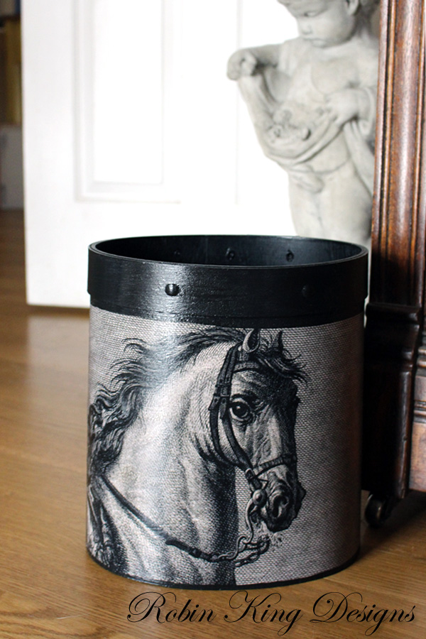 Horse Engraving Wastepaper Basket