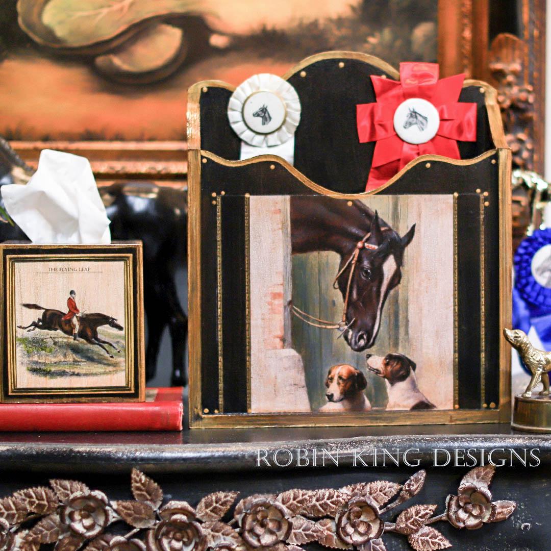 Horse Magazine Holder